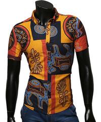 Lesara Chemise à manches courtes et motifs colorés