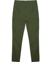 Lesara Slim Fit-Hose mit Bundfalten - Khaki - 36