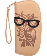 Lesara Geldbörse Eule mit Brille - Beige