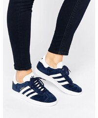 Adidas Originals - Gazelle - Baskets en daim - Bleu marine - Bleu marine