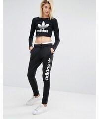 adidas Originals - Pantalon de survêtement avec logo oversize - Noir