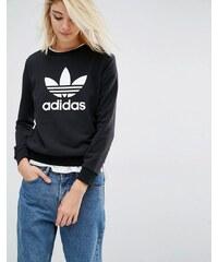 Adidas Originals - Sweat avec logo trèfle - Noir