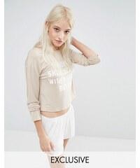 Adolescent Clothing - Pause Sunday - Top court et short de pyjama - Beige