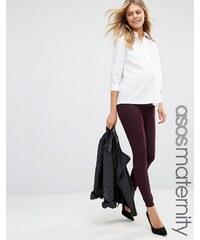 ASOS Maternity - Rivington - Jegging en jean avec taille retombant sous le ventre - Bordeaux - Rouge