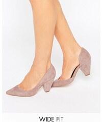 ASOS - SAPPHIRE - Chaussures larges à talons et bouts pointus - Beige