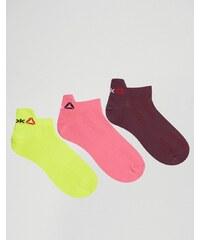 Reebok - 3-er Pack Socken in Neon - Mehrfarbig