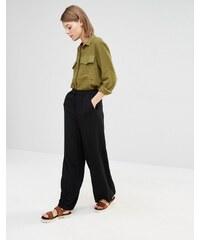 Selected - Aliva - Pantalon large et fluide - Noir