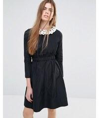 Vanessa Bruno Athe - Kleid mit abnehmbarem Kragen - Schwarz