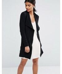 Vero Moda - Manteau drapé avec ceinture - Noir