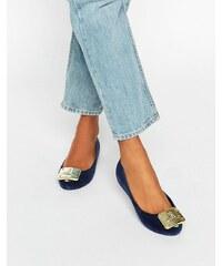 Vivienne Westwood For Melissa - UltraGirl - Chaussures plates avec plaque et effet floqué - Bleu marine