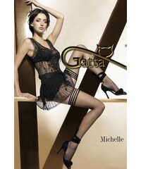 Samodržící punčochy Gatta Michelle 02, černá