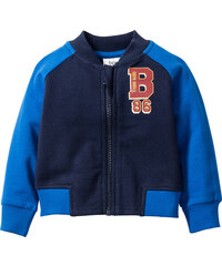 bpc bonprix collection Gilet sweat bébé en coton bio, T. 56/62-104/110 bleu enfant - bonprix