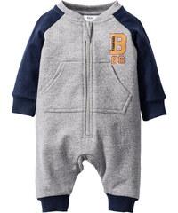 bpc bonprix collection Combinaison sweat-shirt bébé en coton bio, T. 56/62-104/110 gris enfant - bonprix