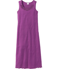 bpc selection Chemise de nuit coton bio violet sans manches lingerie - bonprix