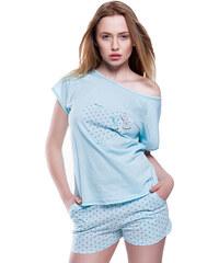 eb402e49f0ef Sensis Dámske bavlnené krátke pyžamo Mint tyrkysové L