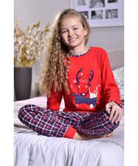 Taro Dívčí pyžamo Kaja červené
