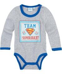 Superbaby Body grau in Größe 3M für Jungen aus 95% Baumwolle 5% Viskose