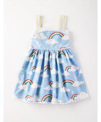Sommerkleid im Fünfziger-Stil Blau Mädchen Boden