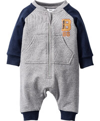 bpc bonprix collection Baby Sweat Overall Bio-Baumwolle, Gr. 56/62-104/110 in grau von bonprix