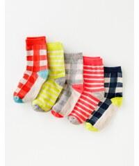 Socken im 5er-Pack Kariert Mädchen Boden