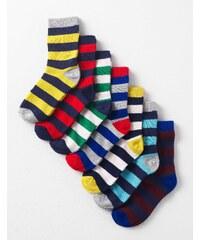 7er-Pack Socken Gestreift Jungen Boden