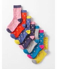 7er-Pack Socken Gepunktet Mädchen Boden