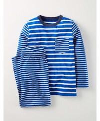 Pyjamaset mit Mustermix Blau Jungen Boden