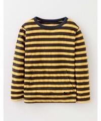 T-Shirt mit strukturierten Streifen Gelb Jungen Boden