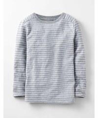 Strukturiertes genopptes T-Shirt Grau Jungen Boden