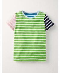 T-Shirt mit Retrostreifen Gr�n Mädchen Boden