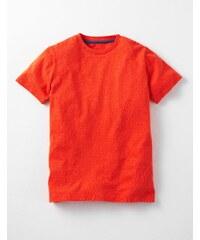 Vorgewaschenes genopptes T-Shirt Orange Jungen Boden