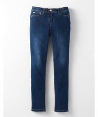 Schmale Jeans Mittelblaues Denim Mädchen Boden