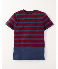 T-Shirt mit raffiniertem Streifenmotiv Rot Jungen Boden