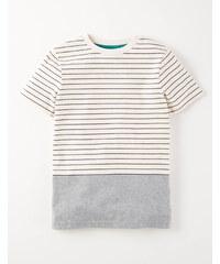 T-Shirt mit raffiniertem Streifenmotiv Cremefarben Jungen Boden