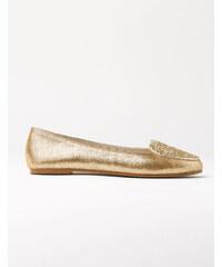 Ballerinas mit Herzmotiv Gold Mädchen Boden