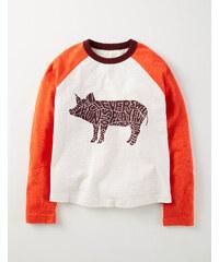 Wordle T-Shirt Orange Jungen Boden