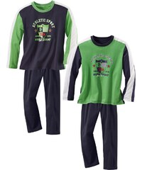 Maier Sports Pyjama 2 Stück mit sportlichem Druck
