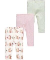 Next Leggings Hosen offwhite/pink/green