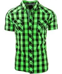 Zelená atraktivní pánská košile