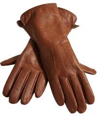 Heine Große Größen: Handschuhe, cognac, Gr.7-8