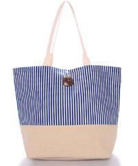 Plážová taška pruhovaná modrá - Enrico Benetti Summer modrá