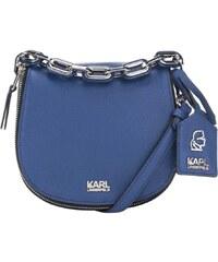 Modrá kožená crossbody kabelka KARL LAGERFELD