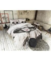 Dreamhouse Bedding Parure housse de couette 240x200/220 cm + 2 taies d'oreiller 60x70 cm Madame - taupe