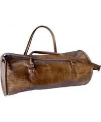 Industrial style, Prostorná kožená cestovní taška 30x63x30cm (1203)