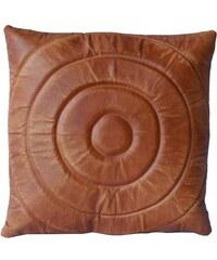 Industrial style, Krásný kožený polštář 42x42cm (1212)
