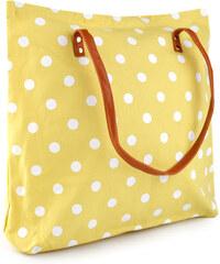 Textilní taška puntíky - Světle žlutá univerzal
