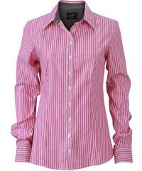 Dámská pruhovaná košile - Růžová XS