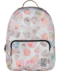 Batoh The Pack Society classic backpack off white petals allover