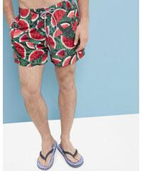 Ted Baker Badeshorts mit Watermelon-Print Grün