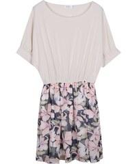 Lesara Shirt-Kleid im 2-in-1-Look - Beige - S